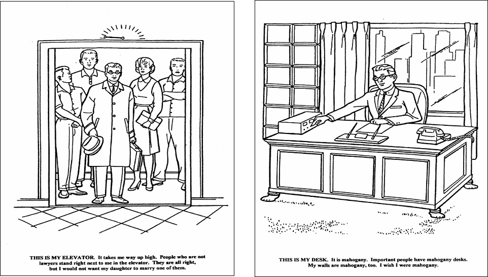 elevator coloring pages