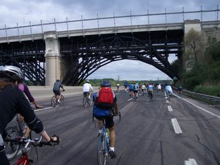 DVP Northbound approaching Bloor Viaduct
