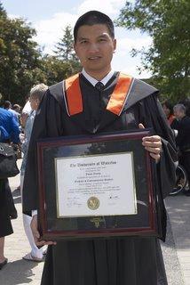 Holding my degree