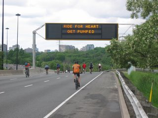 Compass Sign promoting Ride for Heart