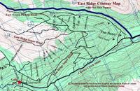 East ridge Cat Roads and Ski Runs at Chatter Creek