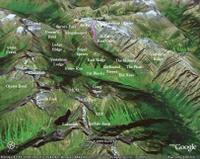 Google Earth image of East Ridge and Stovepipe Mountain