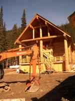 Rear of Vertebrae Ski Lodge at Chatter Creek