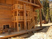 Rear of Solitude Ski Lodge at Chatter Creek