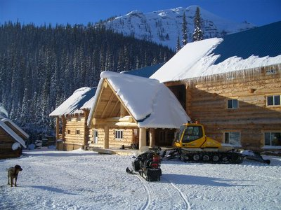 Snowcat skiing Lodge at Chatter Creek with new entryway