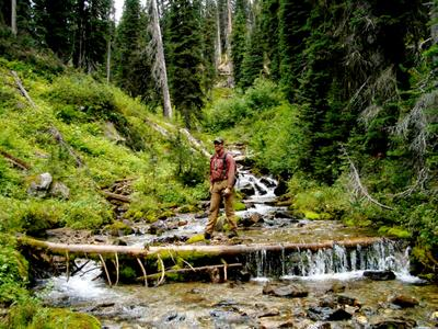 Dale in the woods at Chatter Creek