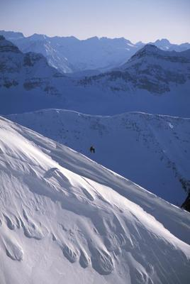 Dan Hudson ski photo of Andrew Hardingham on the Windlip at Chatter Creek