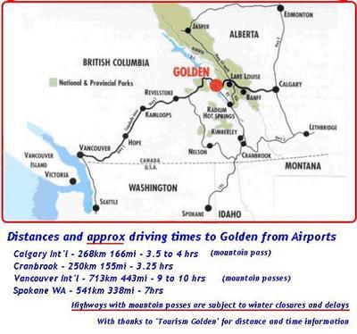 Map by Golden Tourism Association