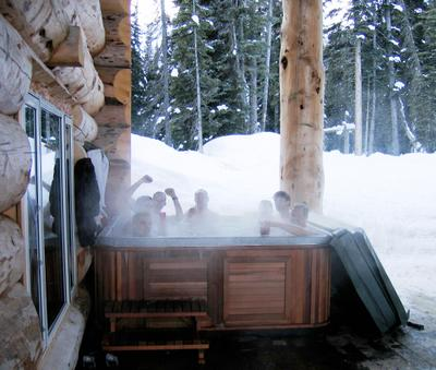 Second Hot Tub at Chatter Creek Cat Skiing