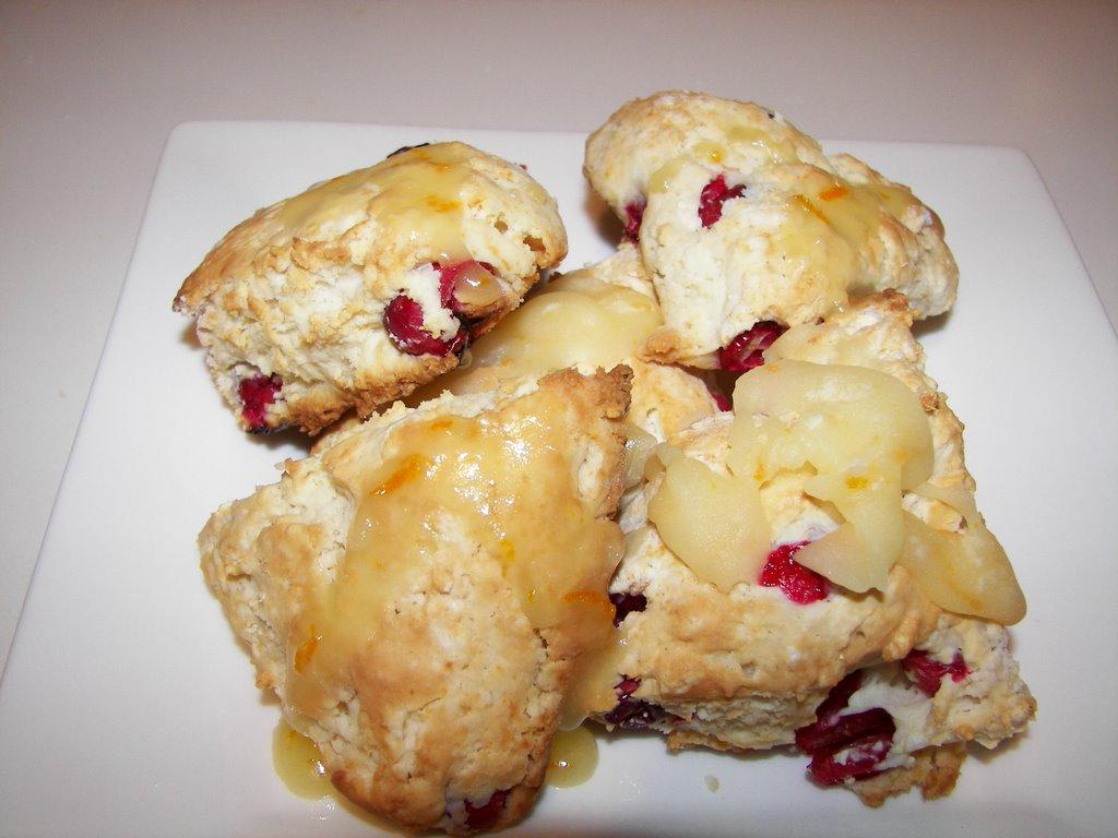 Flavors: Cranberry Scones with Orange Glaze
