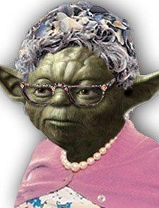 La viejita de Master Yoda llegó de visita