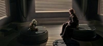 Dinorider y su padrino Yoda