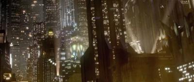 Noche en Coruscant y Dinorider fugándose