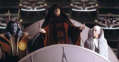 Emperador con mueca Bush