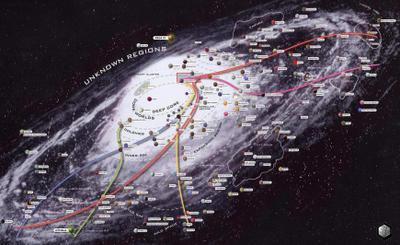 El mapa de la galaxia, ¡dónde andará Dinorider?