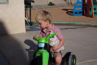 E on his bike back in NM
