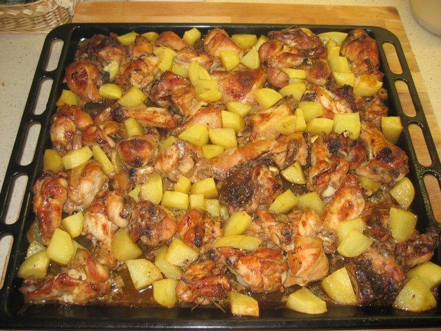 La cocina de mami pollo al horno macerado en salsa de - Salsas para el pollo al horno ...