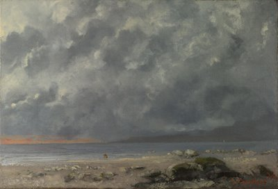 Gustave Courbet, «Beach Scene»