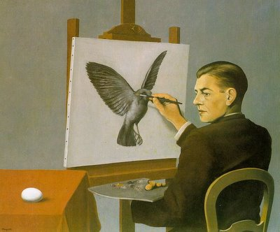 Magritte, «Clairvoyance»