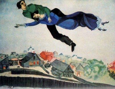 Marc Chagall,«Au dessus de la ville»