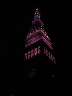 NYC building at night