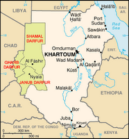 Sudan Showing Darfur