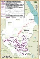 Sudan Oil map