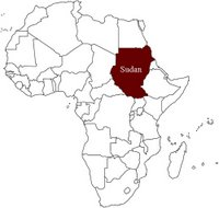 Africa Showing Sudan