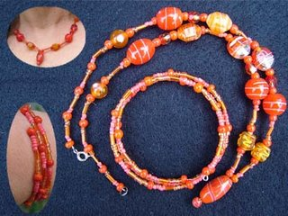 bead bracelet and necklace