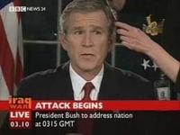 Bush siempre se peina en camaras cuando todo le sale mal