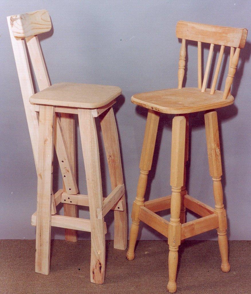 Artesanias facundo for Modelos de sillas para barra en madera