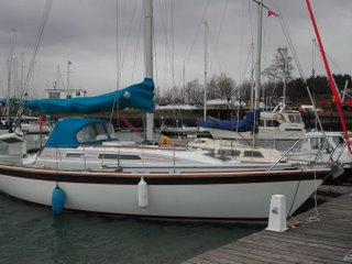 Kalessin of orwell, a Westerly Storm 33 built in 1988. She was originally called Box Bee