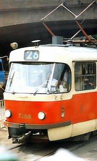Sporvogn i Prag 1992