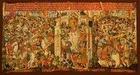 Tapices de la Catedral de Zamora - La Guerra de Troya - La Muerte de Troilo, Aquiles y Paris