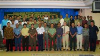 The trainers and trainees from Dep Forestry and other governmental agencies of Jambi province - at the closing ceremony of the STCP/BKSDA organised workshop on law enforcement and wildlife crime
