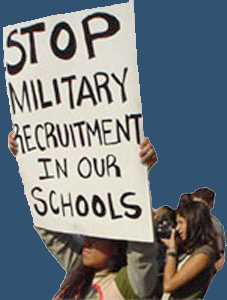 military recruiters in high schools Us armed forces recruiting programs  free military education  100% of the  cost of the course and up to 100% of the cost of obtaining a high school degree,.