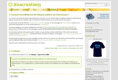 Blog Alsacreations
