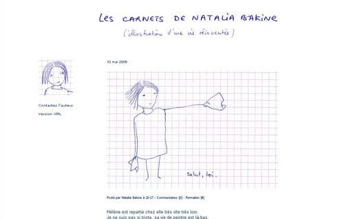 Les carnets de Natalia Bakine