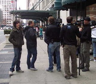 Daniel Vosovic, filmed outside of Macy's, March 25, 2006