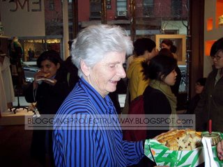 The darling Peggy McCarthy serving her Irish Bread with orange marmalade
