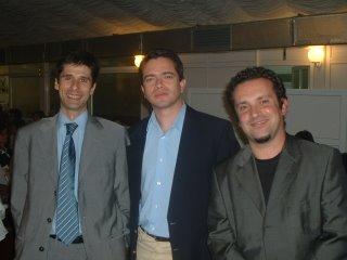 Jantar de arranque: Luís Silva do Ó, Bruno Gonçalves Pereira e Ulisses Silva. Fonte: AlentejoMagazine