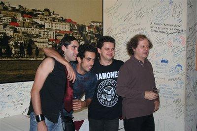 UHF no Coliseu de Lisboa. Fernando Rodrigues, Ivan Cristiano, António Côrte-Real e António Manuel Ribeiro. Fotografia: BGP