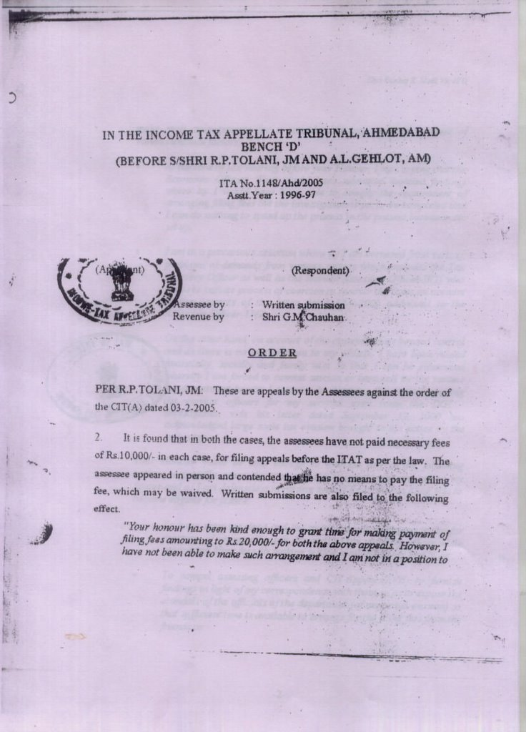 Correspondence with income tax department copy of income tax tribunal order spiritdancerdesigns Image collections