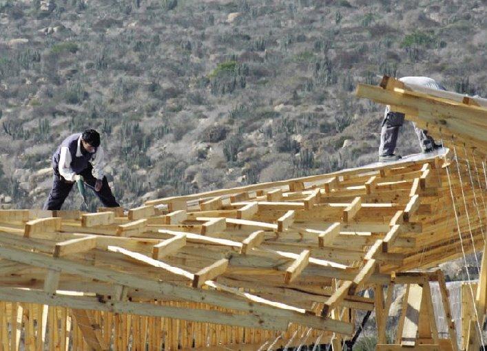 Arquitectura y tecnolog as estructura madera policarbonato - Arquitectura en madera ...