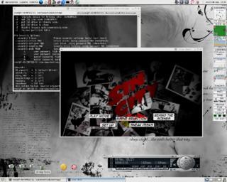 Mi Ubuntito en acción con el dvd de SinCity