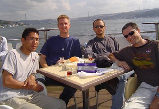 Norm, Mike, Joel, and Ryan on the Bosporus