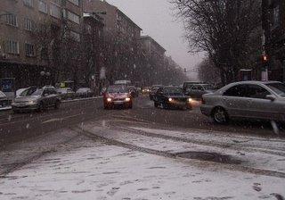 a snowy Patriach Evtimi Blvd.