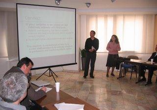 Joel presenting w/ interpreter