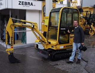Joel with Kubolta mini-trackhoe