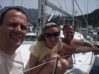 Joel, Sarah & Simon on the Ali II